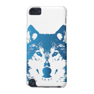 Illustration Ice Blue Wolf iPod Touch 5G Case