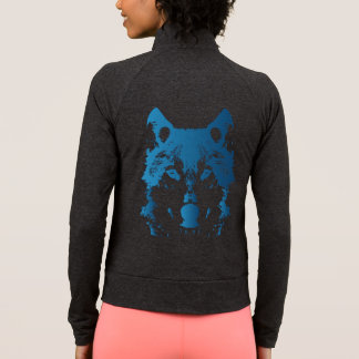 Illustration Ice Blue Wolf Jacket
