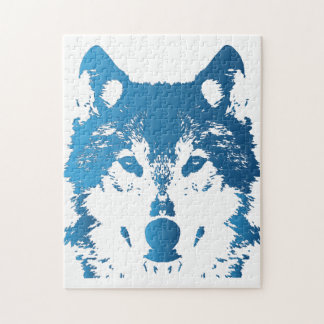 Illustration Ice Blue Wolf Jigsaw Puzzle