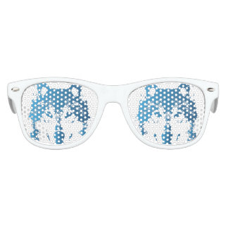 Illustration Ice Blue Wolf Kids Sunglasses