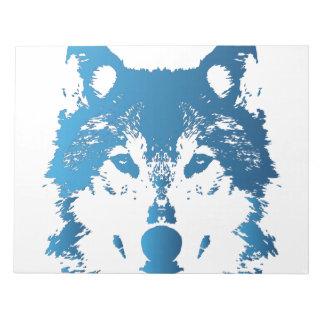 Illustration Ice Blue Wolf Notepad