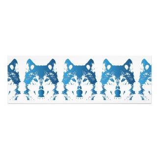 Illustration Ice Blue Wolf Photo Print