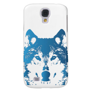 Illustration Ice Blue Wolf Samsung Galaxy S4 Case