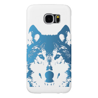Illustration Ice Blue Wolf Samsung Galaxy S6 Cases