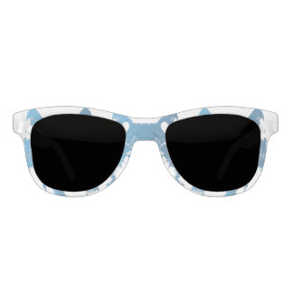 Illustration Ice Blue Wolf Sunglasses