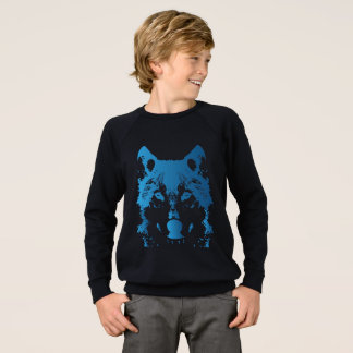 Illustration Ice Blue Wolf Sweatshirt