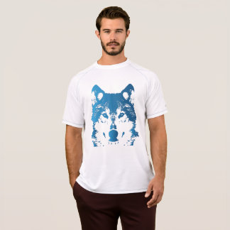 Illustration Ice Blue Wolf T-Shirt
