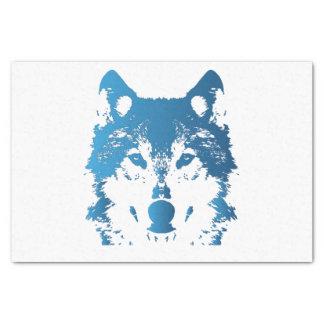 Illustration Ice Blue Wolf Tissue Paper