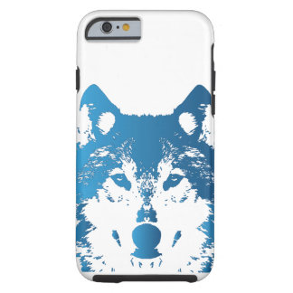 Illustration Ice Blue Wolf Tough iPhone 6 Case
