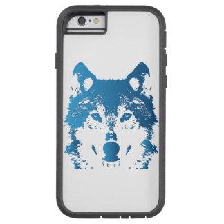 Illustration Ice Blue Wolf Tough Xtreme iPhone 6 Case