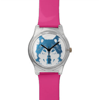 Illustration Ice Blue Wolf Watch