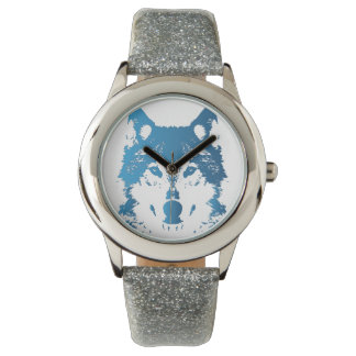 Illustration Ice Blue Wolf Watch