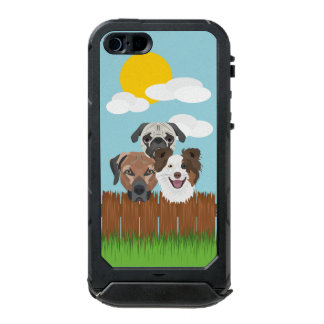 Illustration lucky dogs on a wooden fence incipio ATLAS ID™ iPhone 5 case