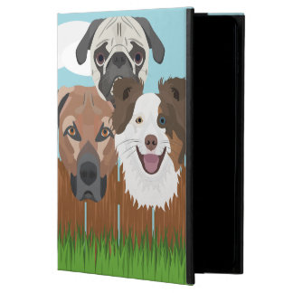 Illustration lucky dogs on a wooden fence powis iPad air 2 case