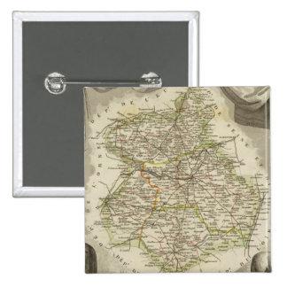 Illustration maps 15 cm square badge