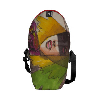 Illustration messenger bag. courier bag