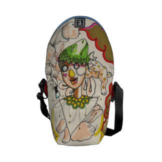 Illustration messenger bag. courier bags