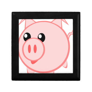 Illustration Of A Cartoon Pig Gift Box