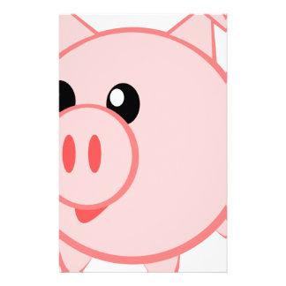 Illustration Of A Cartoon Pig Stationery