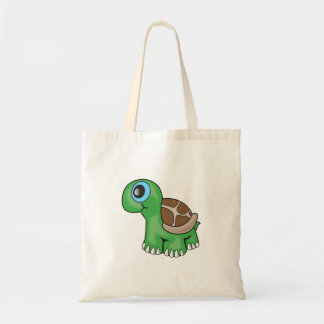Illustration of a Cute Baby Turtle Budget Tote Bag
