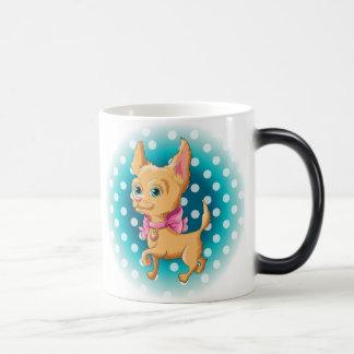Illustration of a cute dog Chihuahua Magic Mug