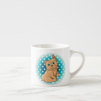 Illustration of a cute dog French Bulldog Espresso Cup