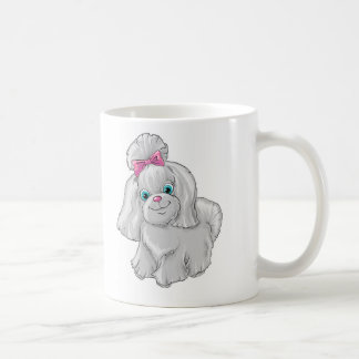 Illustration of a cute dog yorkshire terrier coffee mug