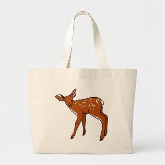 Illustration Of A Deer Large Tote Bag