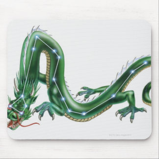 Illustration of a dragon with the Dragon (Draco) Mouse Pad