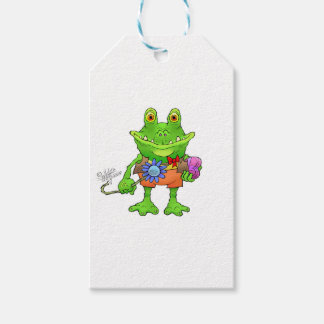 Illustration of a frog. gift tags