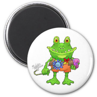 Illustration of a frog. magnet