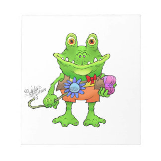 Illustration of a frog. notepad