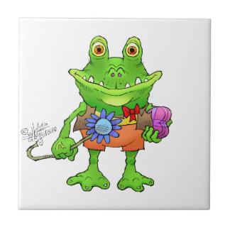 Illustration of a frog. tile