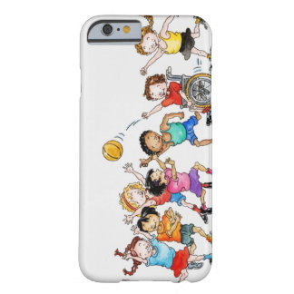 Illustration of a group of children including a barely there iPhone 6 case