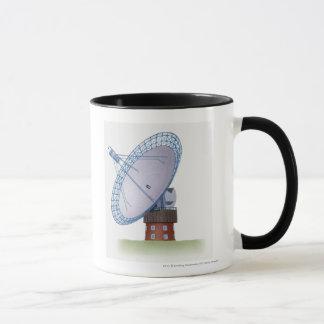 Illustration of a radio telescope mug