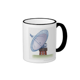 Illustration of a radio telescope mug