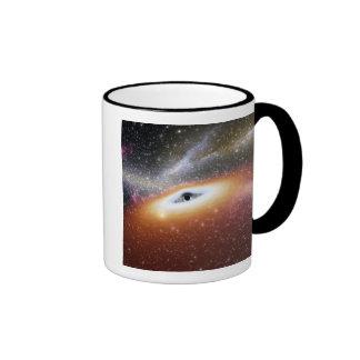 Illustration of a supermassive black hole mugs