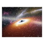 Illustration of a supermassive black hole photo