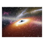 Illustration of a supermassive black hole photograph