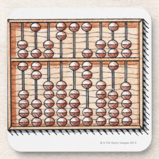 Illustration of abacus drink coaster