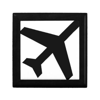 Illustration Of An Airplane Silhouette Gift Box