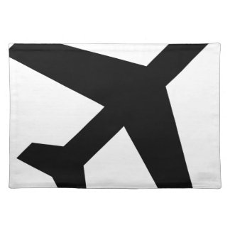 Illustration Of An Airplane Silhouette Placemat