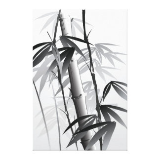 Illustration of an Oriental style painting Gallery Wrapped Canvas