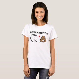 Illustration of Coffee & Poop: Best Friends T-Shirt