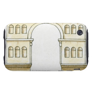 Illustration of early 4th century Arch of Janus iPhone 3 Tough Case