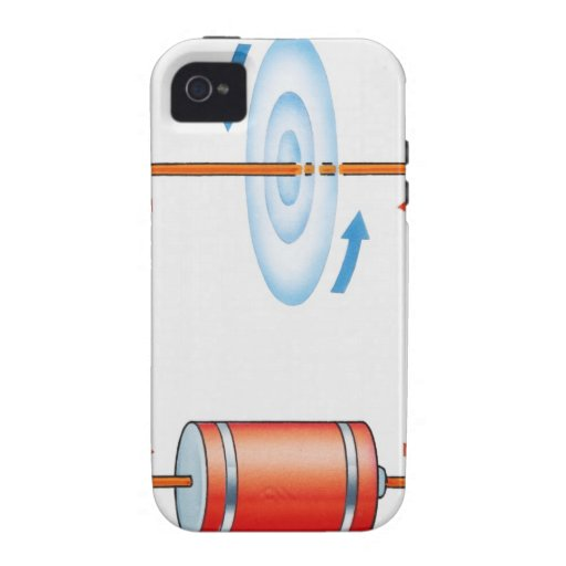 Illustration of electric current producing iPhone 4 covers