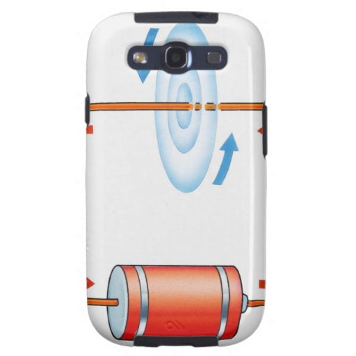 Illustration of electric current producing samsung galaxy s3 cover