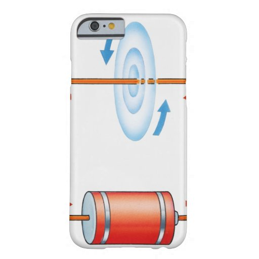 Illustration of electric current producing iPhone 6 case