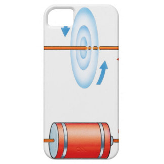 Illustration of electric current producing case for the iPhone 5