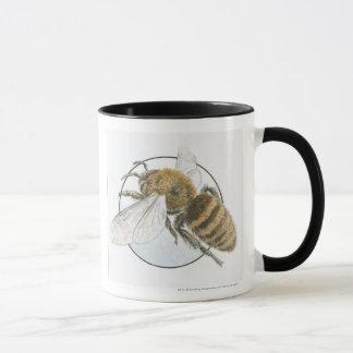 Illustration of European Honey Bee Mug